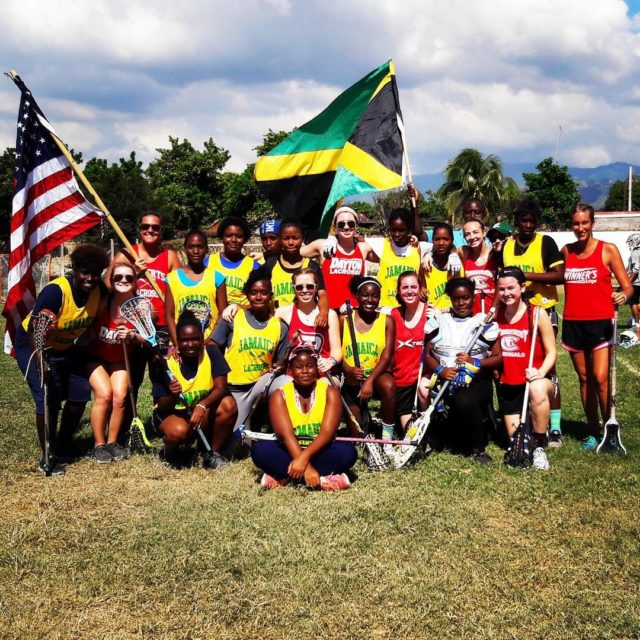 The USA women from the laxvolunteercorps score a redemptive 75hellip